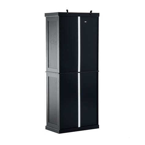 black kitchen pantry cabinet homcom colonial storage cabinet kitchen pantry black