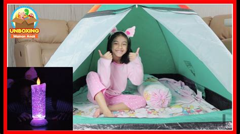 Tenda Anak Di Asemka mainan tenda kemping dan lu tidur anak unboxing mainan anak kemah kemahan di dalam rumah