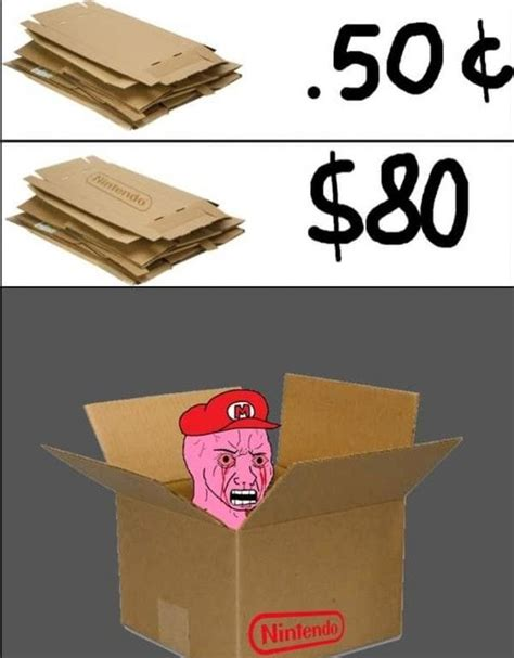Cardboard Box Meme - high price cardboard nintendo labo know your meme
