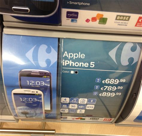 Hp Iphone 5 Di Carrefour quand carrefour confond l iphone 5 avec le galaxy s3