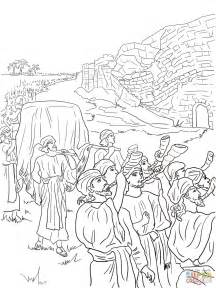 coloring pages for joshua and the battle of jericho joshua and the fall of jericho coloring page free