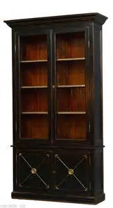 black bookshelves with glass doors bookcase antique elm reclaimed black glass doors