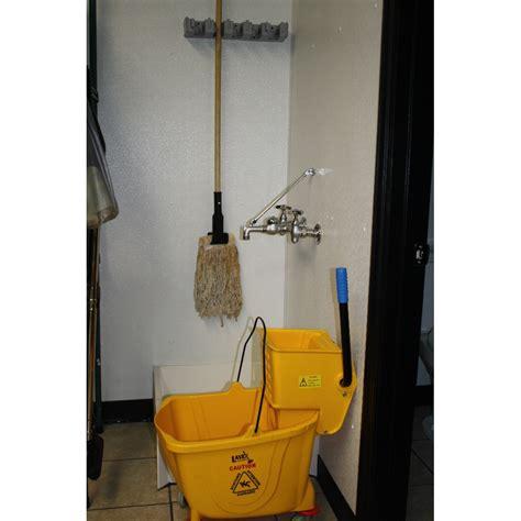 16 quot mop and broom rack