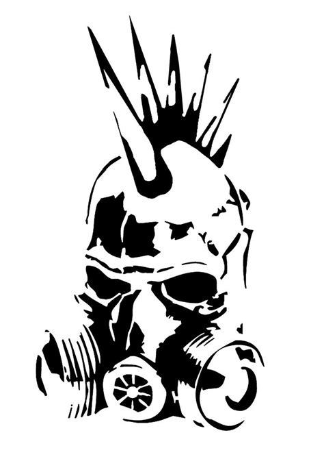 punk gas mask stencil  skayp stenciler pinterest