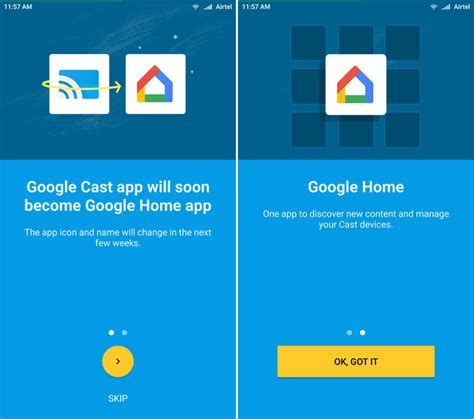 home apps the cast app is getting a new name and purpose