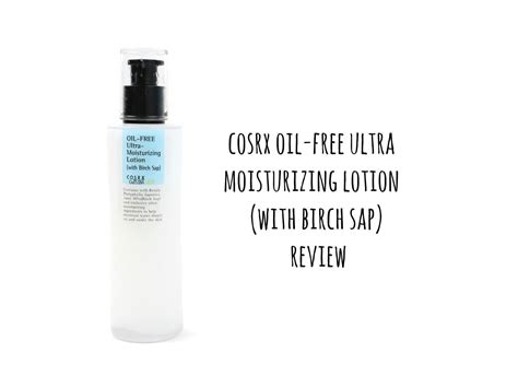 Limited Cosrx Free Ultra Moisturizing Lotion With Birch Sap cosrx christinahello