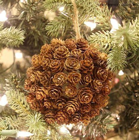 diy pine cone ornaments 21 diy styrofoam ornaments the bright