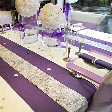 Table De Nuit Violette by Table De Mariage Violette Blanche Et Argent So Chic