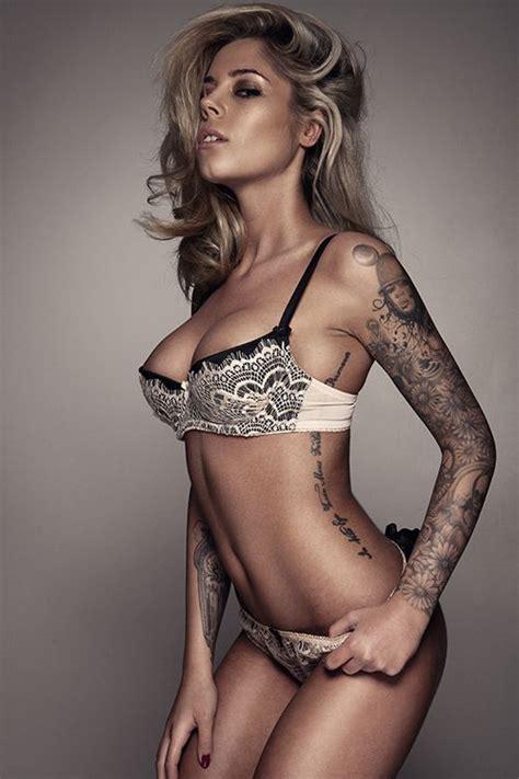 girl wear tattoo underwear sexy lady beautiful sleeve and tattoos ink spiration
