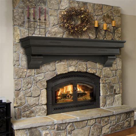 Distressed Fireplace Mantel by Pearl Mantels Celeste Shelf