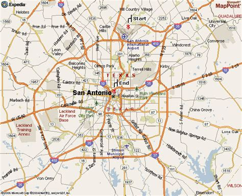 san antonio texas maps directions from san antonio international airport sia to the offices of daw a limited