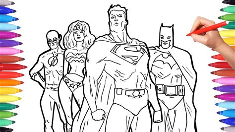 color of justice superheros coloring pages coloring superheroes batman