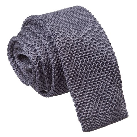 knitted ties next charcoal knitted tie