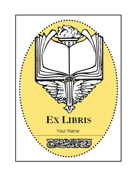 bookplate templates for word antioch bookplate template address and phone book