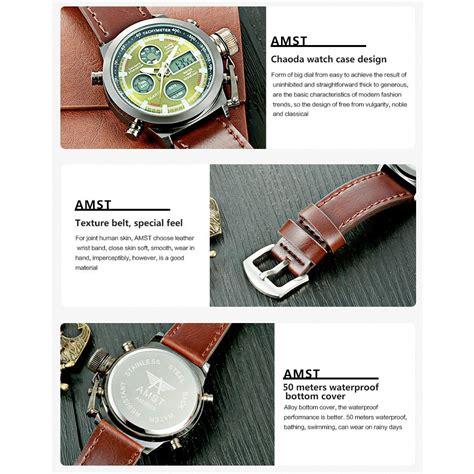 Murah Amst Jam Tangan Digital Analog Pria Am3003 Brown Black amst jam tangan digital analog pria am3003 brown green jakartanotebook