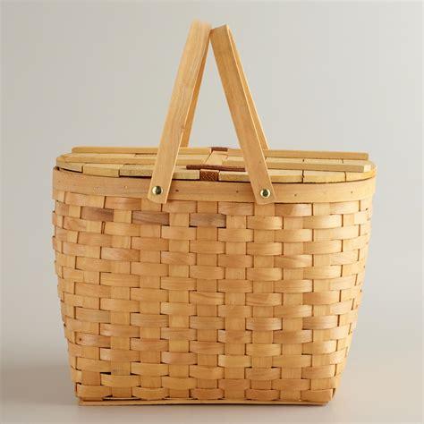 To Market Recap Picnic Basket by Bamboo Picnic Basket World Market