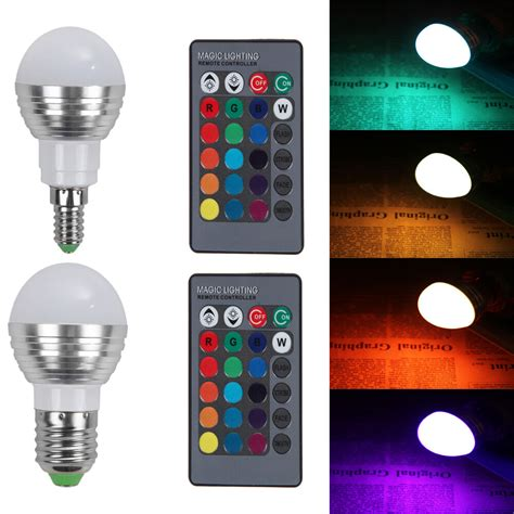 e27 e14 5w dimmable rgb led light color changing bulb