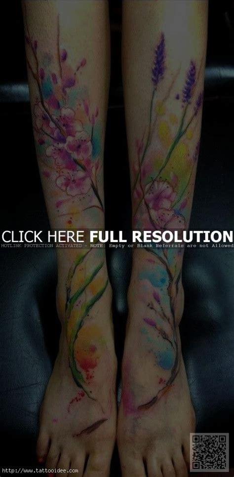 blumen aquarell tattoo tattooideecom