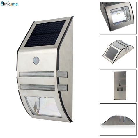 motion activated pathway elinkume waterproof 2 led 120lm pir solar motion sensor