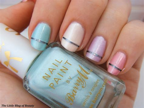 Silk Nails by Barry M Silk Nail Paints Striped Pastels Nail The