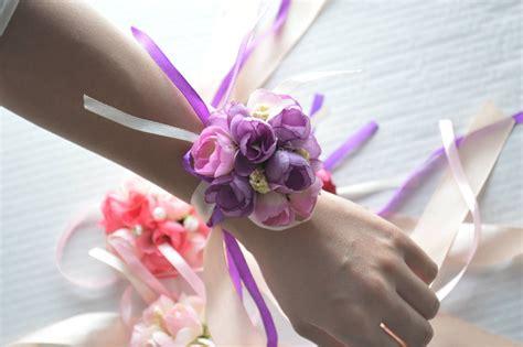 artificial flower wedding wrist flower bride hand flower