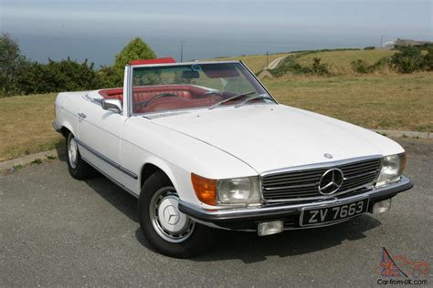 classic red mercedes mercedes 350sl 1973 classic white with red interior
