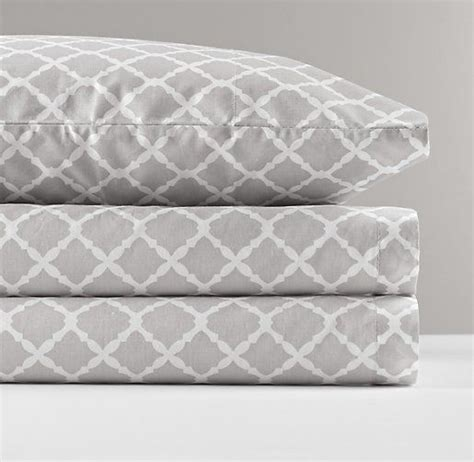 grey patterned fitted sheet european trellis percale crib fitted sheet nursery