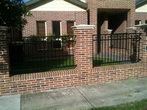 best 25 brick fence ideas on yard gates