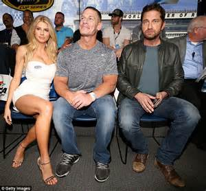 charlotte flair real age charlotte mckinney and gerard butler at nascar s daytona