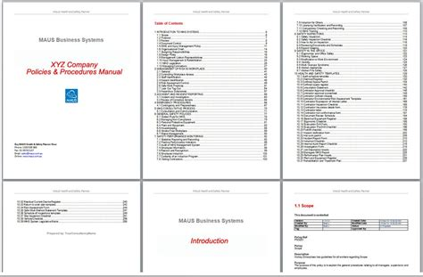 training manual template microsoft word template design