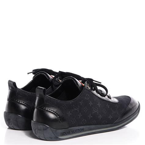 louis vuitton mini monogram sneakers tennis shoes 38 black