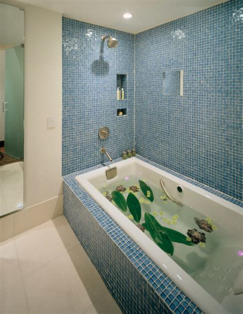 iridescent tiles bathroom iridescent glass tile ideas