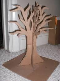 How To Make A 3d Tree Out Of Paper - cardboard tree this should be painted and put in the
