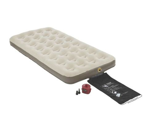 coleman cing single high quickbed air bed mattress w 4d battery ebay