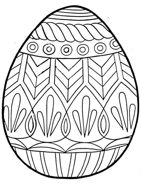 Free Printable Easter Egg Coloring Pages free printable easter egg coloring pages coloring home