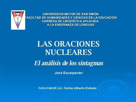 oraciones que revelan el 1616380764 los sintagmas y las oraciones nucleares diagramas arb 243 reos