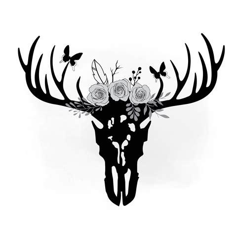 deer antler clip antler clipart cow skull pencil and in color antler