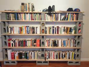 Cinderblock Bookshelves Diy Cinderblock Bookshelf Creations