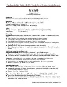 human services resume template sle resume child and family services in human services