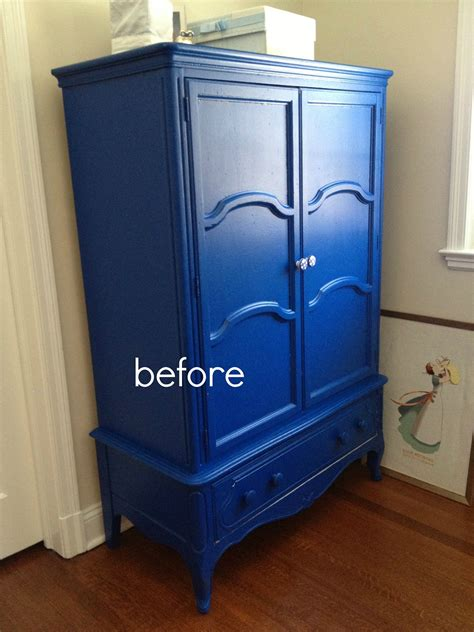blue armoire that s my letter diy armoire makeover