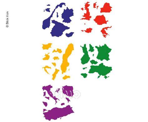 Kart Aufkleber Set by Europa Aufkleber Set Europa Karte Zum Aufkleben 46438