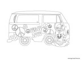 hippie coloring pages free hippie color coloring pages