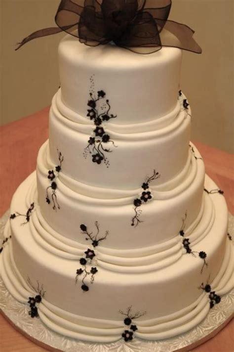 Classic Wedding   White And Black WEDDING CAKE #2059846