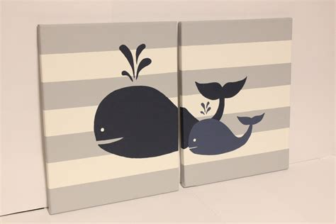 Whale Nursery Wall Art Baby Boy Girl Whale Decor Baby Boy Girl Whale Nursery Decor