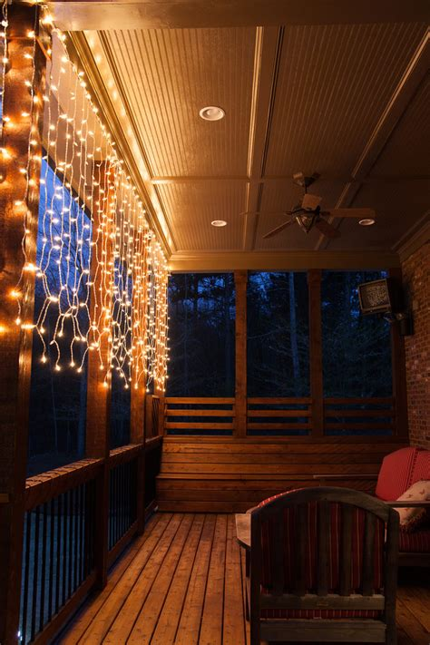 hanging deck lights deck lighting ideas with brilliant results yard envy