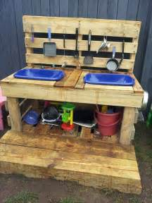 recycled pallet mud kitchen plans recycled pallet ideas top 20 of mud kitchen ideas for kids garden ideas 1001