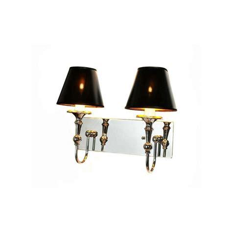 illuminazione applique applique da parete in metallo cromato moderna con due