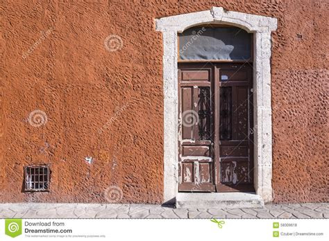 colonial style front doors rustic colonial style entry door stock photo image 58309618