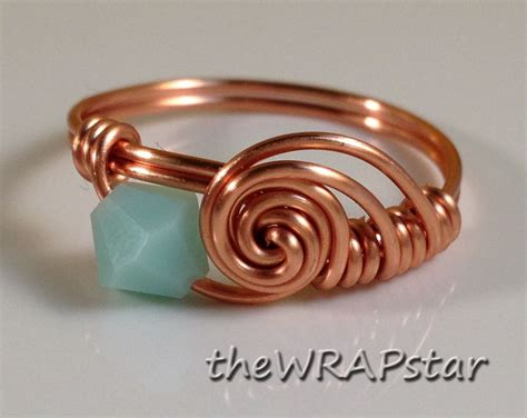 copper ring wire wrapped jewelry handmade wire wrapped ring
