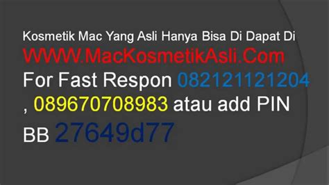 Mac Indonesia kosmetik mac indonesia mac kosmetik asli original mac